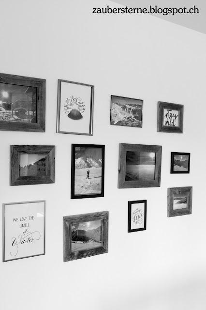 Lettering, Handlettering, Bilderwand selber machen, Winterbilder, Kreativblog Schweiz