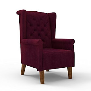 Forzza Lewis Wing Chair Wine