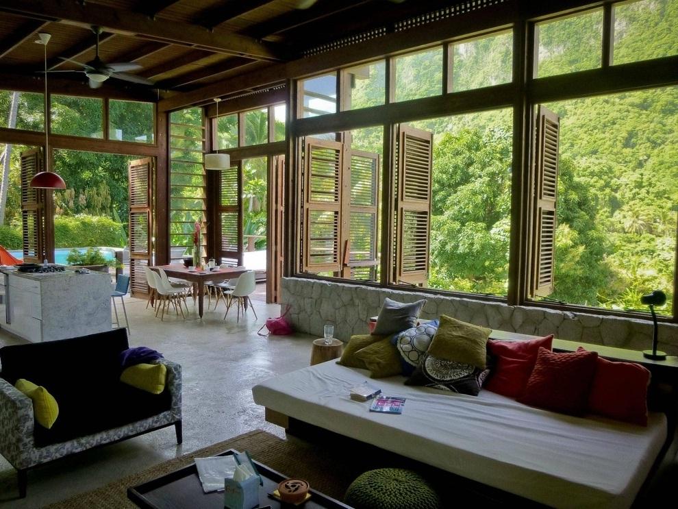 Ruang Keluarga Sejuk - Tips Membuat Rumah Terasa Dingin Walaupun Tanpa AC