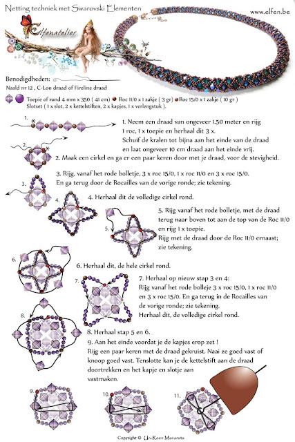 wzory koralikowej bizuterii