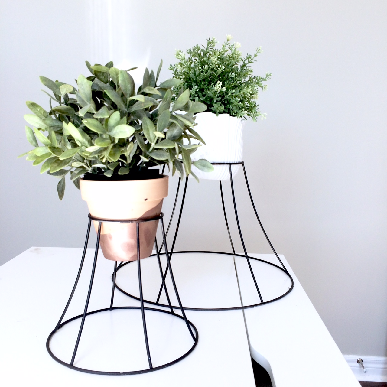 Diy lampshade plant stand harlow thistle home design the spring flowers have got to be right around the corner right bueller well in any case perhaps this diy lampshade plant stand might help them along greentooth