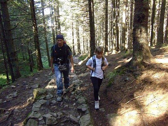 Podejście na Przełęcz w Grzybowcu.