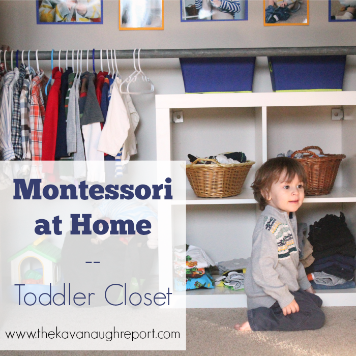 Montessori Toddler Closet
