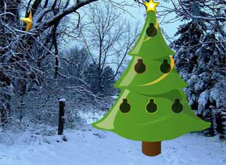 Juegos de Escape - Easy Christmas Forest Escape