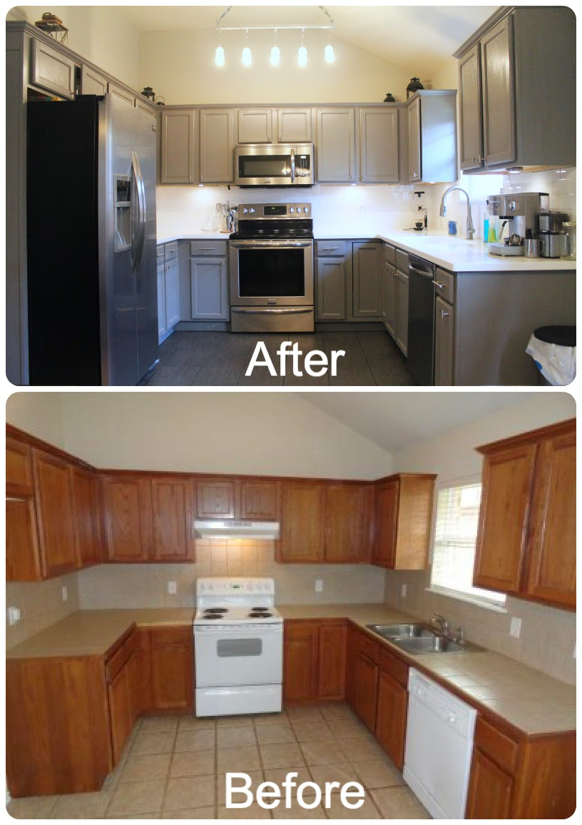 Diy Kitchen Cabinet Painting Before And After Novocom Top