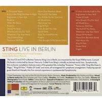 Sting live in Berlin - rear cover; tracks and description