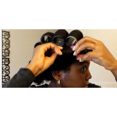 Magnetic Rollers : Silk Wrap 4C natural hair