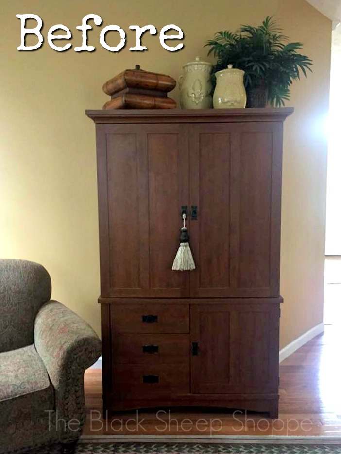 Outdated 1990s TV armoire