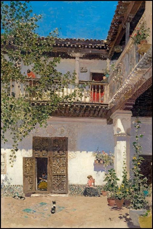 Pinturas de varias pocas pat o de la casa de samuel levy - Busco trabajo de pintor en madrid ...