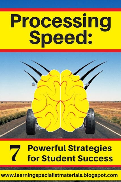 slow processing speed strategies