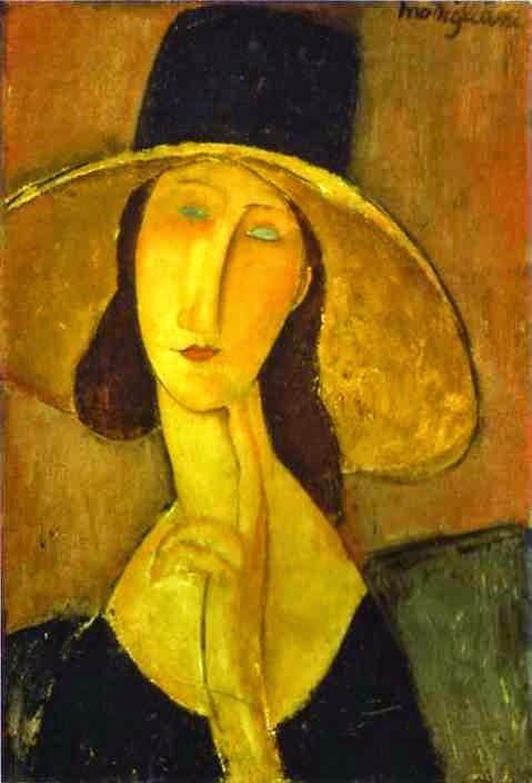 Retrato de Mulher em Hat - Amedeo Modigliani e suas pricipais pinturas