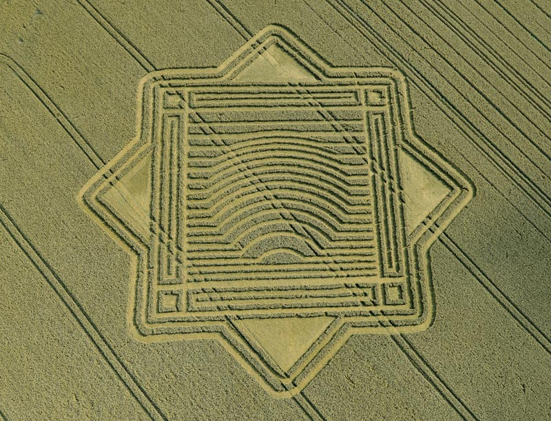 Risultati immagini per crop circle, Whitefield Hill, Wiltshire,
