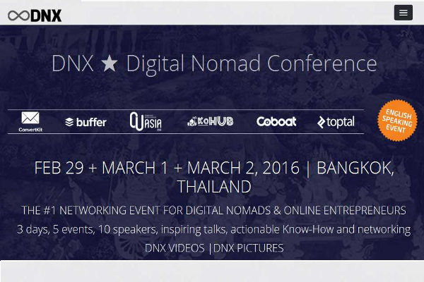 DNX, Digital Nomad Conference
