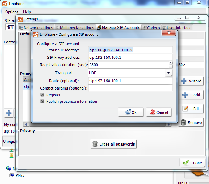 Nothing can stop u    : Configuring SIP client(s)(soft phone) to