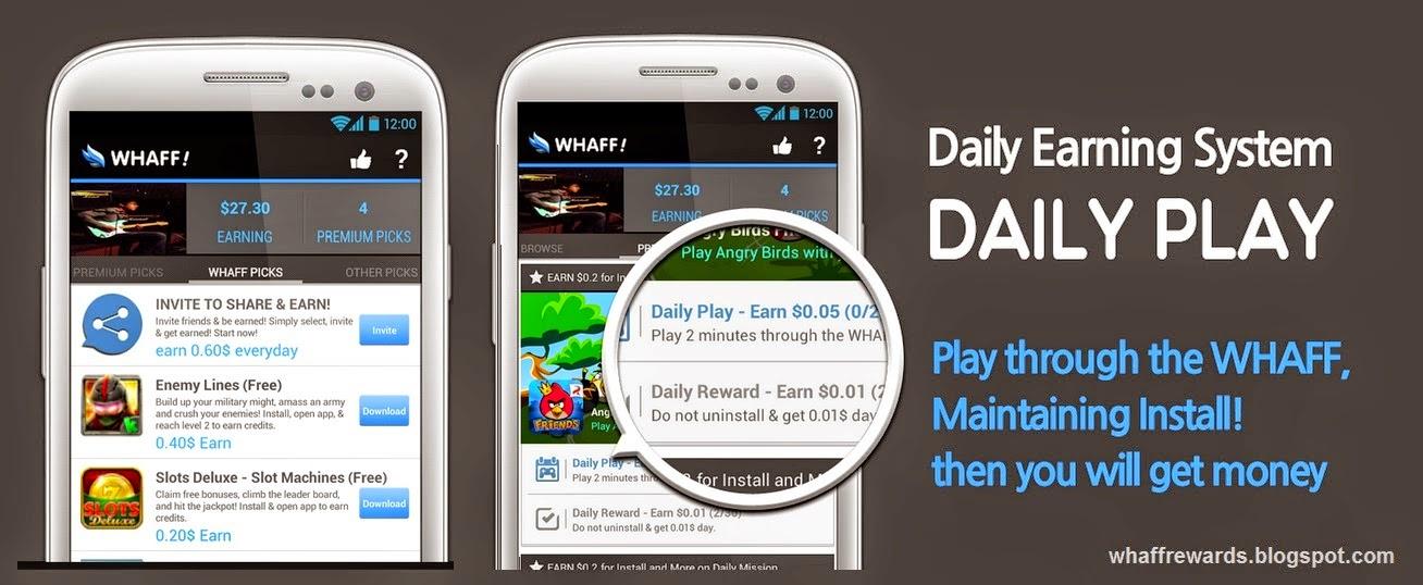 Whaff Reward Aplikasi Android Penghasil Dollar Berbisnis Dan Berbagi