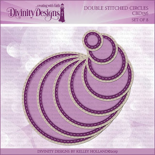 Divinity Designs LLC Custom Double Stitched Circles Dies