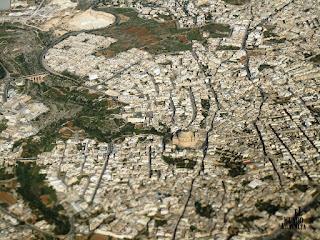 Imagen aérea de Mosta.