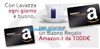 Logo Lavazza ''Ogni giorno buono'': vinci 620 buoni Amazon da 50€, 60 buoni Amazon da 1.000€ e 1 da 5.000€