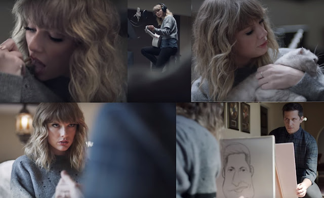 Still Images from the trailer of Taylor Swift NOW Showing Everyday life
