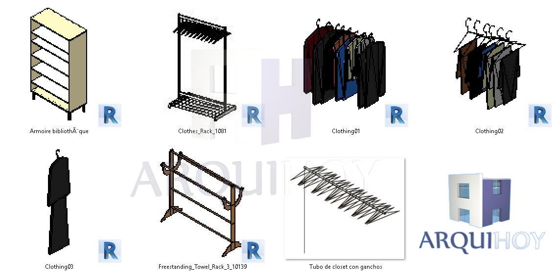 Familia accesorios de armarios family closet accessories - Accesorios para armarios ...