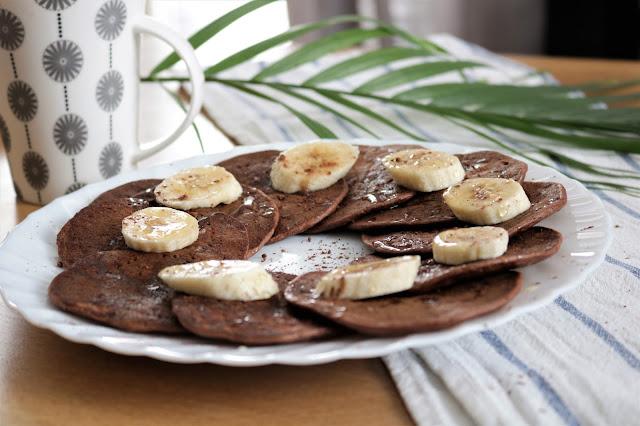 czekoladowo bananowe placki dietetyczne