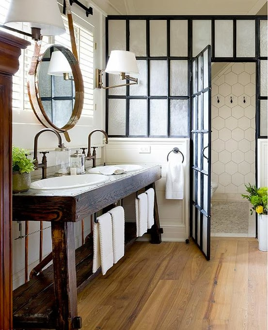 16 Sophisticated Rustic Living Room Designs You Won T Turn: Refresheddesigns.: Seven Stunning Modern Rustic Bathrooms