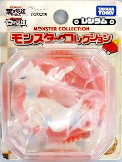 Reshiram figure clear version Takara Tomy Monster Collection 2011 movie promo