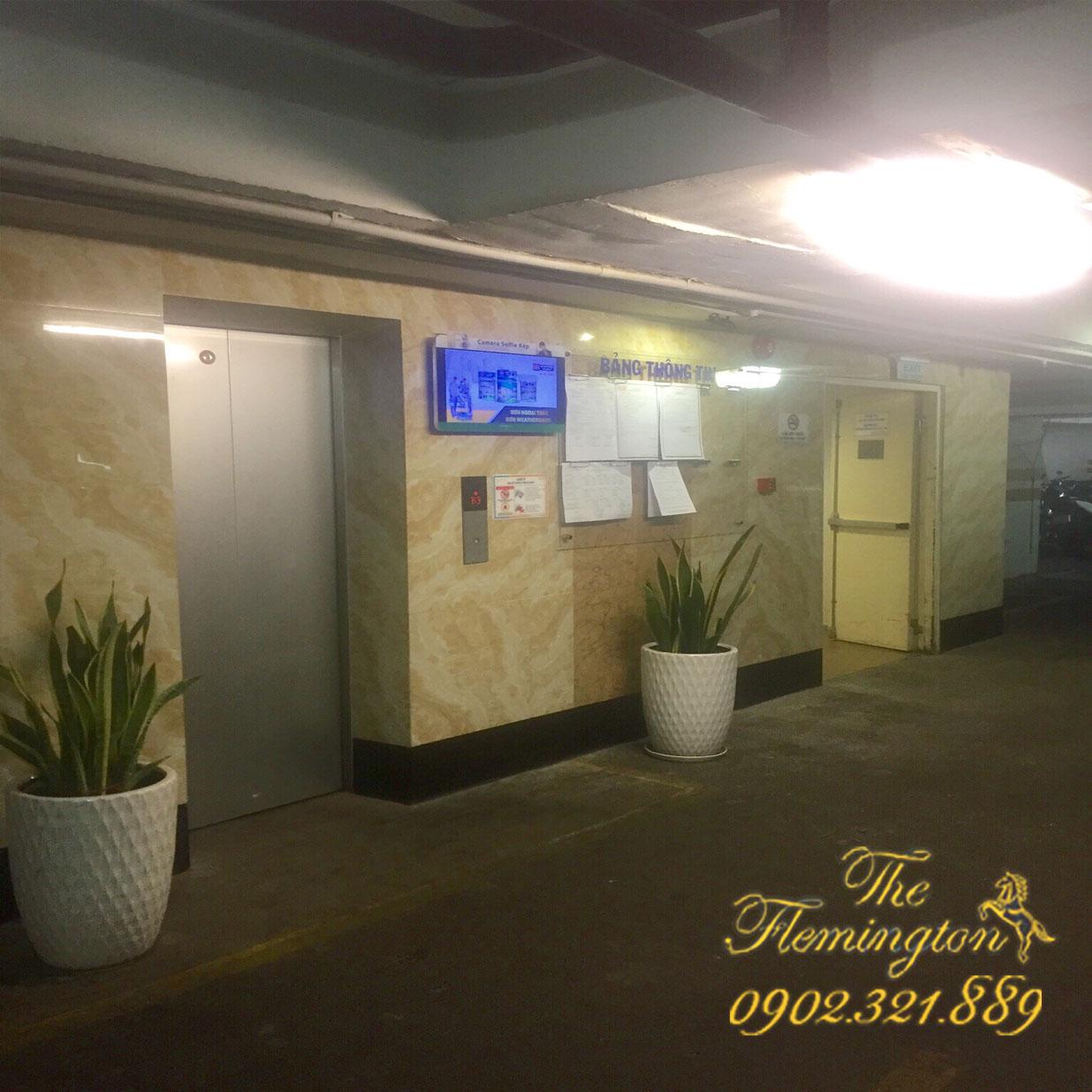 cho thuê chỗ đậu xe tầng hầm B3 tòa nhà Flemington 2