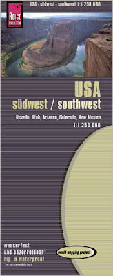 Carte routière - Ouest des Etats-Unis