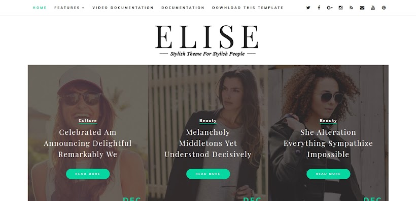Elise Free Blogger Template