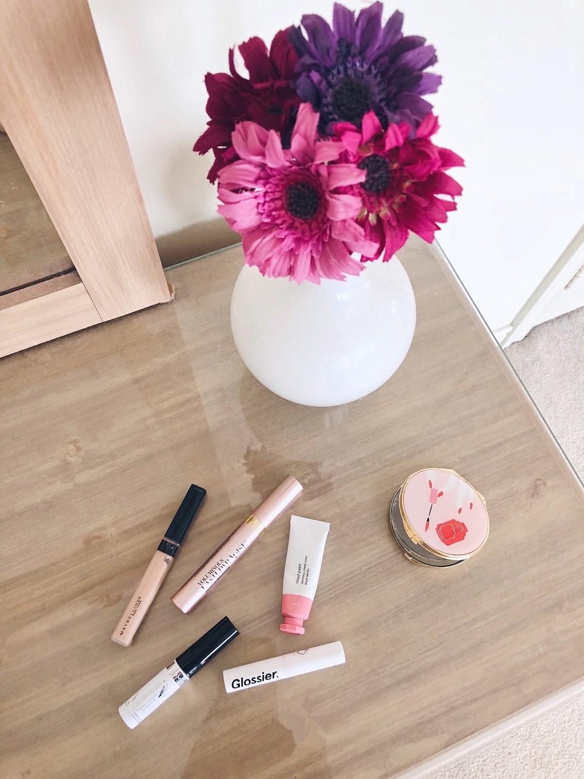 glossier cloud paint lipstick rimmel brow loreal mascara kate spade blogger maybelline concealer sephora dupe drugstore
