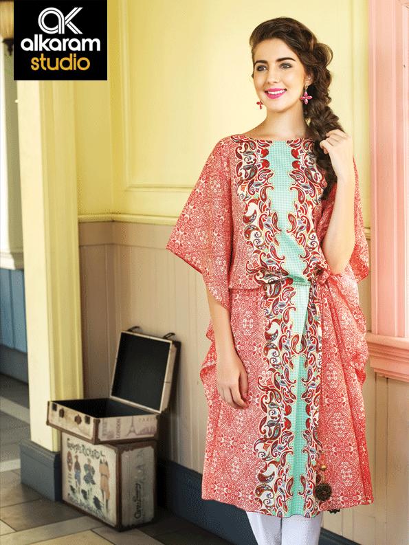 Fashion 2017 dress in pakistan summer - Summer Kurta For Girls Summer Paisley Kurta Designs 2015