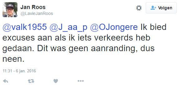 """Jan Roos (@laviejanroos), woordvoerder @GeenPeil: """"Geen aanranding!"""""""