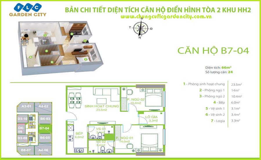 thiet ke can ho B7 chung cu flc garden city
