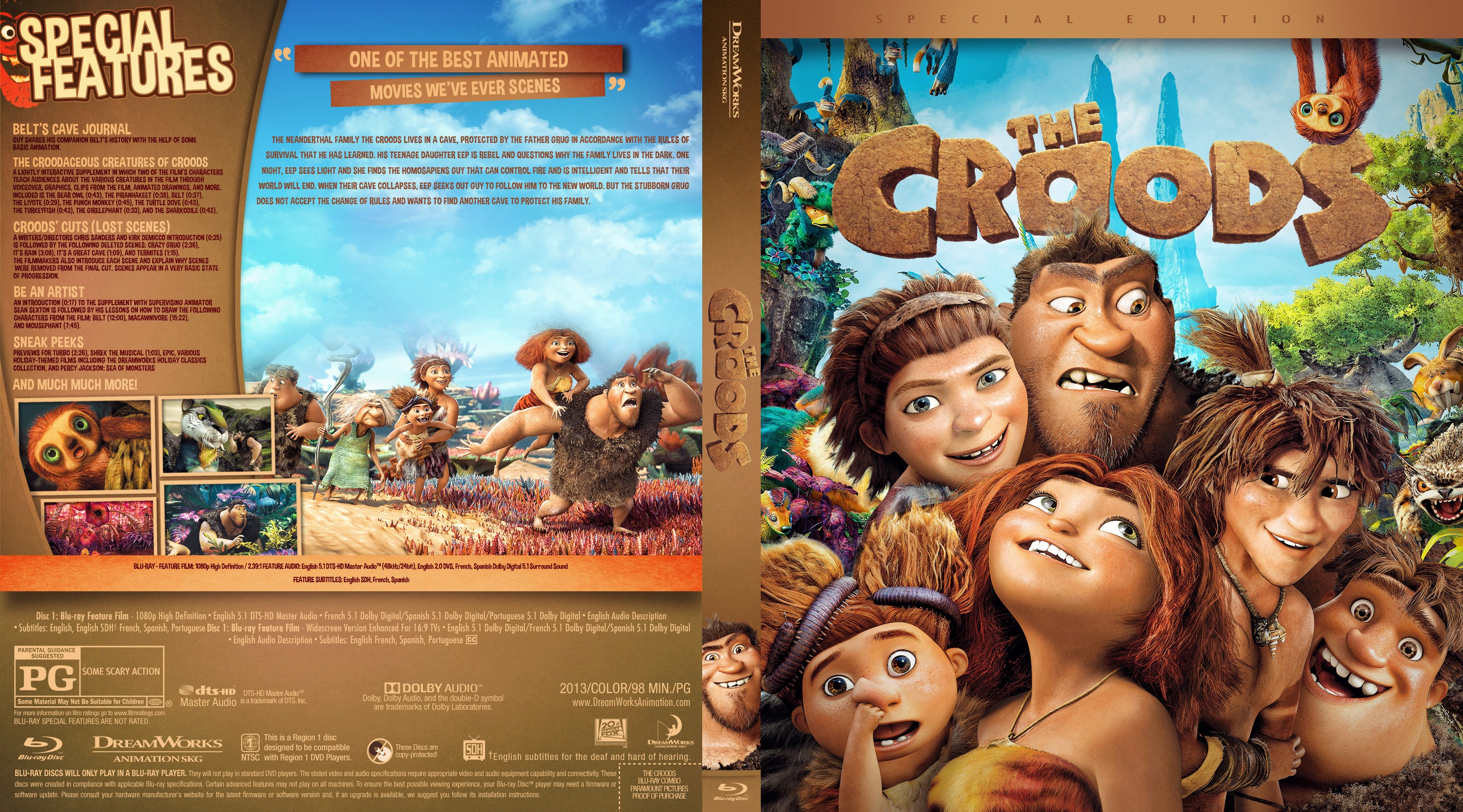 the croods bluray cover - cover addict - freecovers