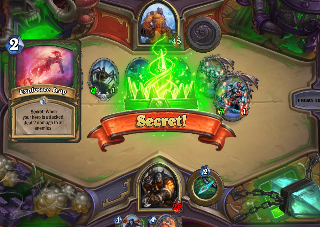 Blizzard Hearthstone The Curse of Naxxramas construct quarter walkthrough Heroic Thaddius deck Hunter