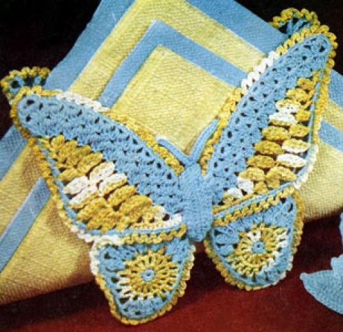 Butterfly Napkin Holder - Free Pattern