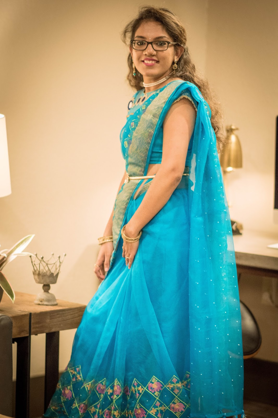 Drape your Saree with a Twist - Aim for Glam | Indian Fashion Blogger in USA