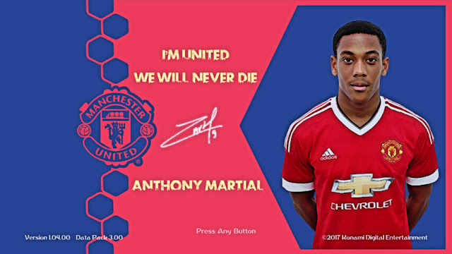 Anthony Martial Start Screen PES 2018