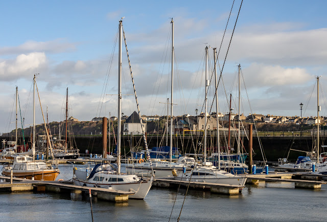 Photo of sunny intervals on Sunday at Maryport Marina