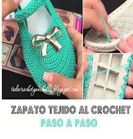 Cómo armar zapatos crochet