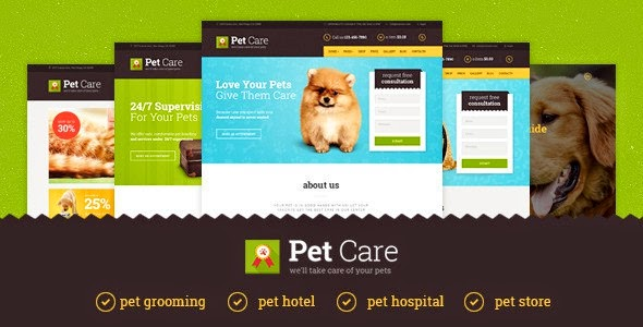 Responsive Pet Care Website Template