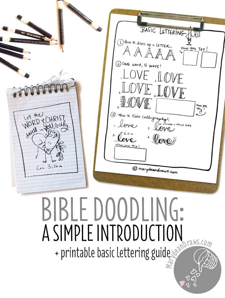 Bible doodling: a simple introduction + free printable basic