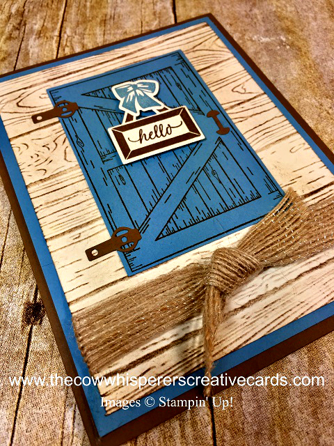Card, Barn Door Stamp Set, Sliding Door Framelits, Rustic