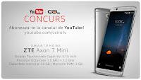 Castiga un telefon mobil ZTE Axon 7 Mini 32GB