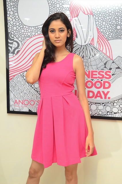 Actress Tejaswi Launches Anoos Franchise Salon and Clinic at Madhapur