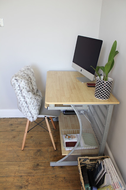 Modern Monochrome Office Desk