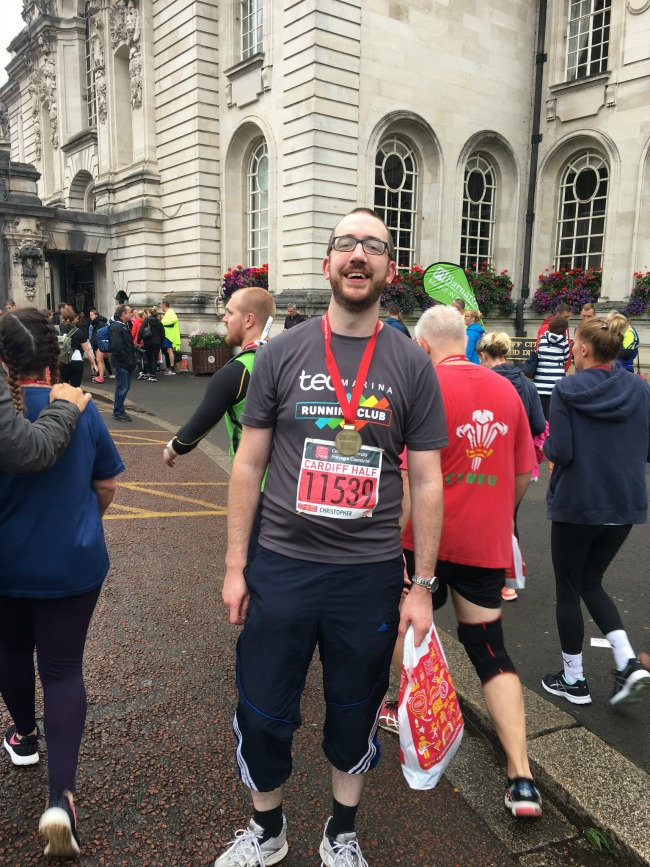 runner-at-cardiff-half-marathon