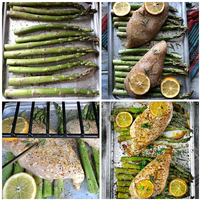 Lemon-Herbs Chicken with Asparagus Sheet Dinner #recipe