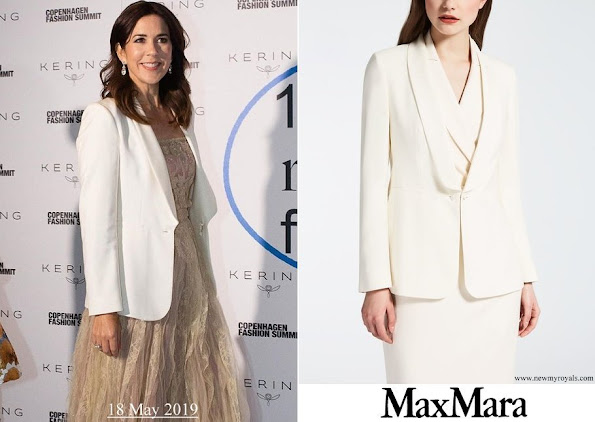 Crown Princess Mary wore MAX MARA Silk Panama Jacket